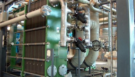 Energy Recovery in desalination plants using heat exchangers