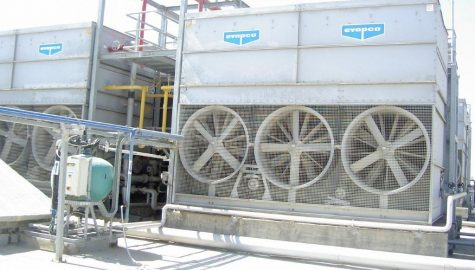Evaporative condensation project for condensing ammonia for a food plant in the South of Israel