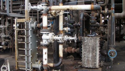 Heat exchangers for the cooling of contaminated water