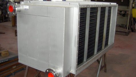 Heat exchanger for air cooling processes